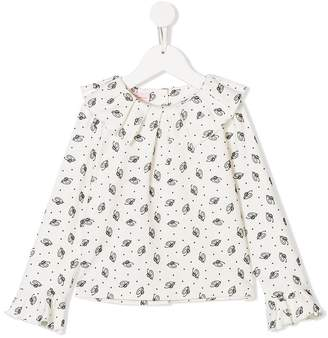 Miss Blumarine multi logo blouse