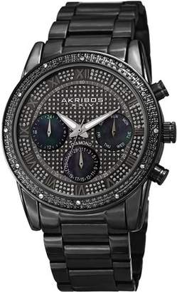 Akribos XXIV Black Dress Quartz Watch With Stainless Steel Strap [AK1040BK]