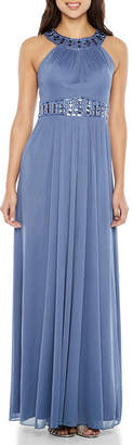 ONE BY EIGHT One By Eight Sleeveless Beaded Evening Gown