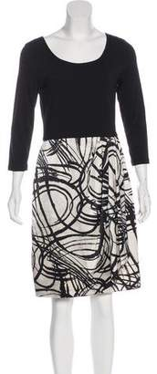DKNY Long Sleeve Knee-Length Dress