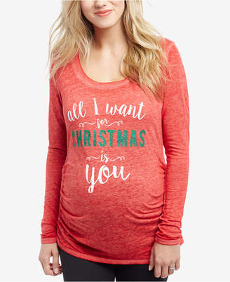 Motherhood Maternity All I Want For Christmas Is You Maternity Tee