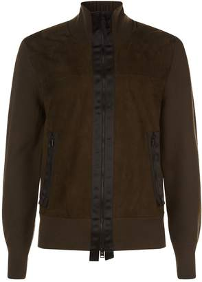 Tom Ford Suede and Wool High Neck Jacket
