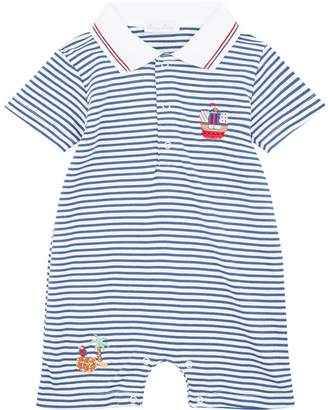 Kissy Kissy Cotton Buccaneers Embroidered Playsuit