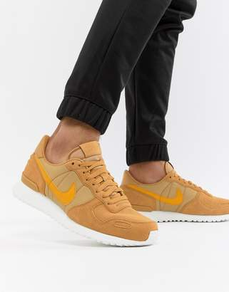 Nike Vortex Leather Sneakers In Gold 918206-700