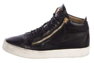 Giuseppe Zanotti Leather May London High-Top Sneakers
