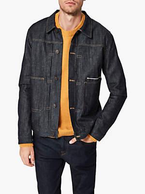Selected Masaki Selvedge Denim Jacket, Dark Blue Denim