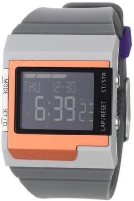 Diesel Men's DZ7182 Medium Grey and Orange Color Domination Digital Module Black Dial Watch