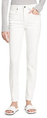 Vince Skinny Ankle High-Rise Denim, White $195 thestylecure.com