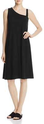 Eileen Fisher Asymmetric Neck Dress $198 thestylecure.com