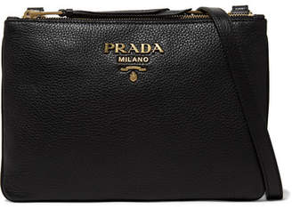 Prada - Textured-leather Shoulder Bag - Black $1,150 thestylecure.com