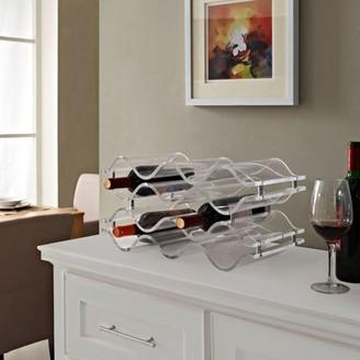 Modway Reserve Acrylic Construction Ten Wine Bottle Rack in Clear