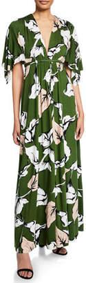 Rachel Pally Long Floral-Print Jersey Caftan Dress