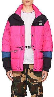 Off-White Men's Convertible Down-Quilted Puffer Jacket - Pink