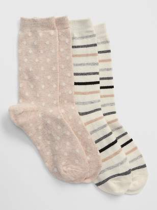 Gap Pattern Crew Socks (2-Pack)