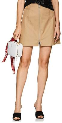 Paco Rabanne Women's Cotton-Blend Zip-Front Miniskirt