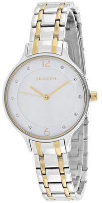 Skagen Anita Collection SKW2321 Women's Stainless Steel Watch with Crystal Accents $304 thestylecure.com