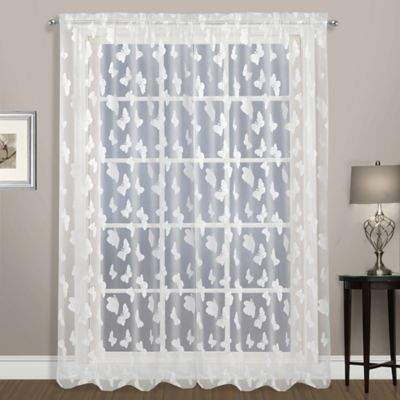 United Curtain Madame 63-Inch Rod Pocket Window Curtain Panel in White
