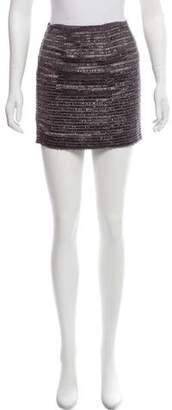 Alice + Olivia Fringe-Trimmed Mini Skirt