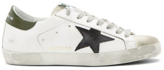 Golden Goose SSENSE Exclusive White and Green Super SSTAR Sneakers