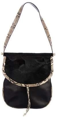 Kieselstein-Cord Suede Python Shoulder Bag