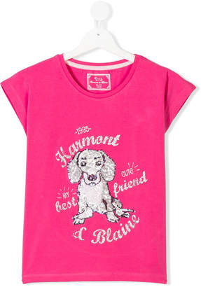 Harmont & Blaine Junior TEEN sequin embellished T-shirt