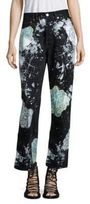 Vintage 501 Splatter Floral Boyfriend Jeans
