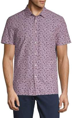 Perry Ellis Men's Printed Cotton Button-Down Shirt