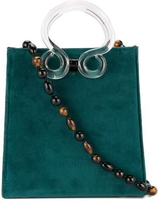 Lizzie Fortunato clear handle shoulder bag