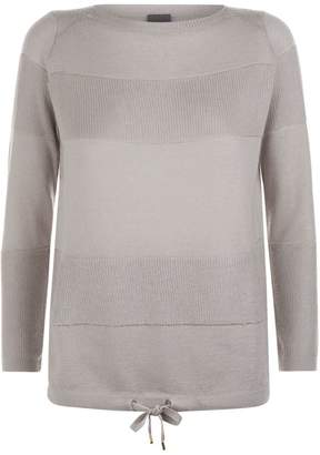 Lorena Antoniazzi Knitted Drawstring Sweater