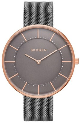 Skagen Gitte Round Mesh Strap Watch, 38mm $125 thestylecure.com