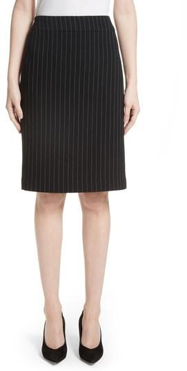 Women's Armani Collezioni Pinstripe Pencil Skirt