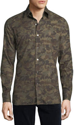 Tom Ford Camouflage-Print Sport Shirt