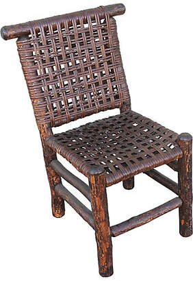 One Kings Lane Vintage Hickory Side Chair with Cane Seat - Luis Rodriquez