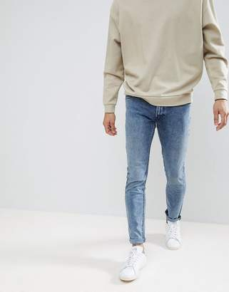 Lee Luke Distressed Wash Skinny Jeans Hypnotise