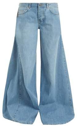 Raey Moon godet-insert wide-leg jeans