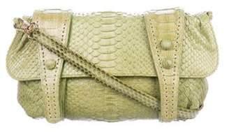 Carlos Falchi Python Flap Crossbody Bag Lime Python Flap Crossbody Bag