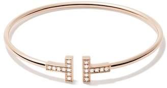 Tiffany & Co. & Co 18kt rose gold T wire diamond cuff