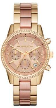 Michael Kors Ritz Two-Tone Stainless Steel Chronograph Bracelet Watch