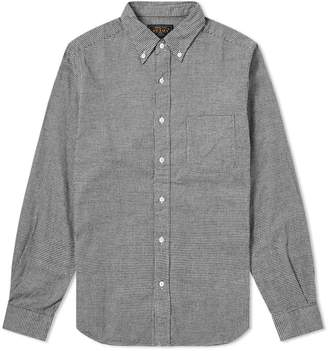 Beams Button Down Houndstooth Flannel Shirt