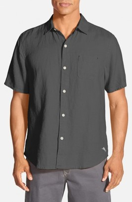 Men's Big & Tall Tommy Bahama 'Seaglass Breezer' Short Sleeve Linen Sport Shirt $110 thestylecure.com