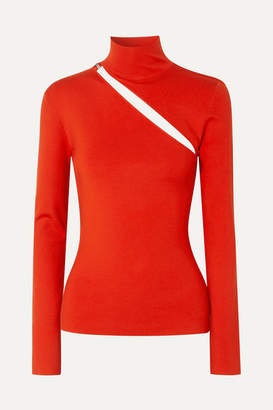 Dion Lee Cutout Wool-blend Top - Tomato red
