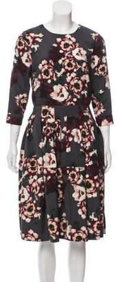 Samantha Sung Silk Floral Dress w/ Tags