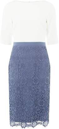 Dorothy Perkins Womens **Showcase Blue And Ivory 'Okley' Lace Shift Dress