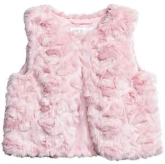 H&M Faux Fur Vest - Pink