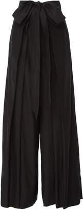 Kalita Avedon Silk-Poplin Wide-Leg Pants