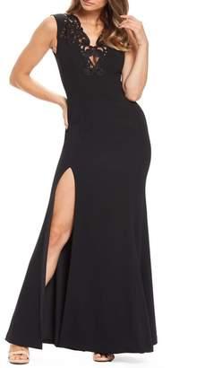 Dress the Population Cassandra Embroidered Evening Dress