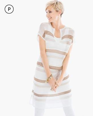 Petite Striped Belted Tunic