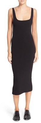 Women's Autumn Cashmere Square Neck Midi Dress $274 thestylecure.com