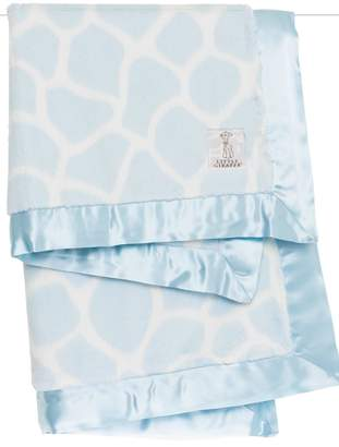 Little Giraffe Blue Giraffe Blanket