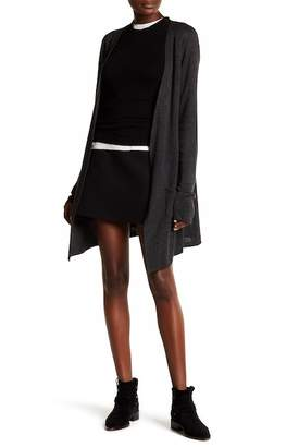 Joseph A Solid Double Knit Cardigan